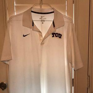 Men's Nike XL TCU logo dri fit shirt. Like new.